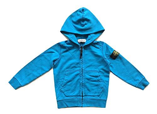 Stone Island Junior 701560940.V0023 - Sudadera con capucha y cremallera para niño, color azul