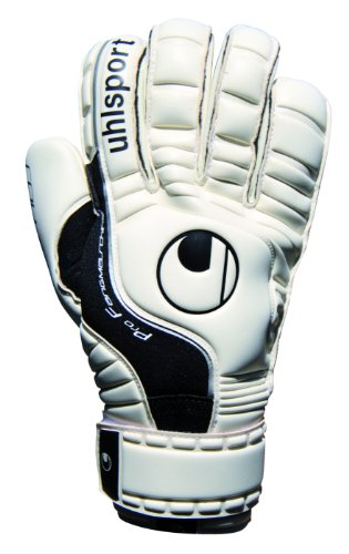 uhlsport Uni Torwardhandschuh Pro Comfort Rollfinger, weiß/schwarz, 11, 100024001