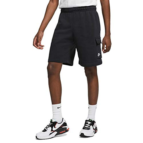 Nike Mens Sportswear Club Shorts, Black/Black/(White), M