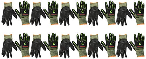 Honeywell Skelett Nit 5 Handschuhe gelb grün Größe 11 10er Pack