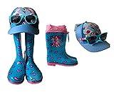 My Little Pony - Juego de 3 botas de agua, botas de agua, gafas de sol y gorro, regalo a juego, color Rosa, talla 27 EU
