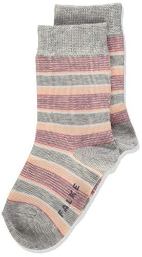 FALKE Unisex Kinder Mixed Stripe Socken, grau (storm grey 3820), 35-38