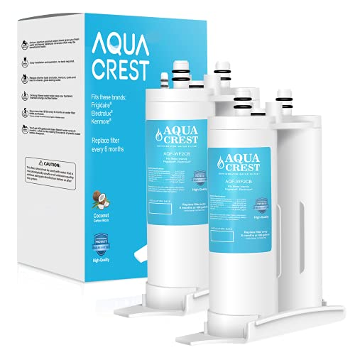 AQUACREST Replacement for WF2CB, PureSource2, NGFC2000, FC100, 1004-42-FA, Kenmore 9916, 469911, 469916 Refrigerator Water Filter, Pack of 2