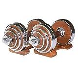carga pesa de gimnasia Pesas de acero Hombres personalidad Pesos desmontable con mancuernas mano Gimnasio en casa aparatos de ejercicios 20kg / 44lb 30 kg / 66 libras J H ( tamaño : 20KG/44LB pair )