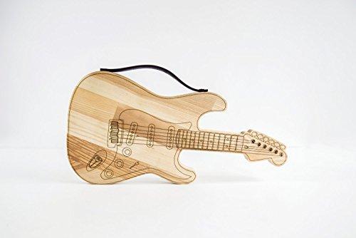 Gitarren-Schneidebrett - Holzbrett - rustikale Schneidebrett - Musiker Schneidebrett - exklusive Küchen Geschenk - Einweihungsgeschenk Geschenk