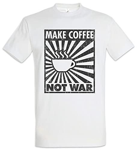 Make Coffee Not War T-Shirt Geek Nerd Barista Demonstration Demo Engineer White S