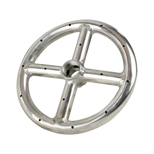 Stanbroil 6' Round Fire Pit Burner Ring, 304 Series Stainless Steel, BTU 88,000 Max