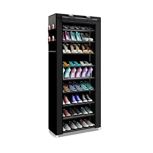 Yyqx Zapatera Estante para Zapatos, Minimalista Hogar Creativo no Tejido Zapatos Organizador Moderno Zapatos Gabinete Armario Estante para usos múltiples Zapatero (Color : A)