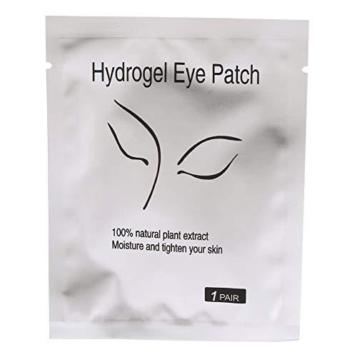 Patch Extension De Cils Paires Gel Patch de Cils Cils Pad Non-Lash Extension de Cils Eye Masque Outil de beauté Collagène sous le Patch Oeil(10 paires-Visage Beauté Argent)
