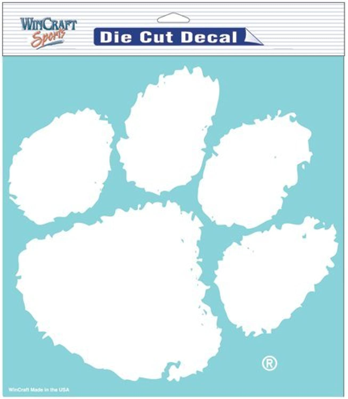 Clemson University Die cut decal 8x8   packaged