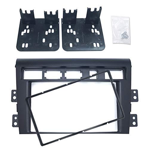 Feeldo Voiture 2DIN radio Façade Cadre plaque Panneau Tableau de bord Garniture Fixation Cadre d'installation kit