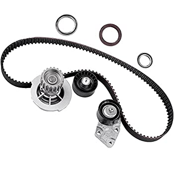 Timing Belt Kit with Water Pump ECCPP for HTD  2004-2008 for Chevrolet Aveo 1.6L AVEO5 TBK335 16V VIN 6 DOHC E-TEC II