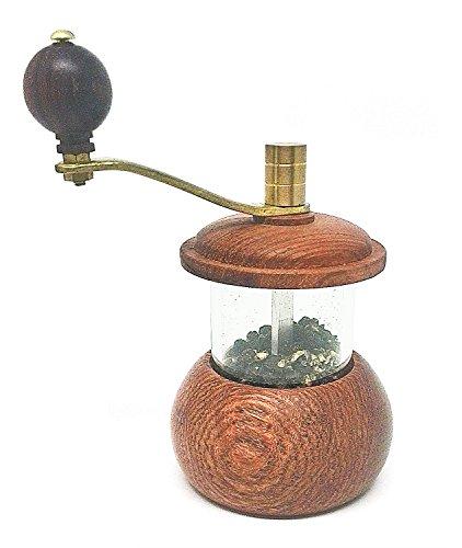 BDJ Teak Wood Salt and Pepper Grinder Mill (Teak-Cylinder)