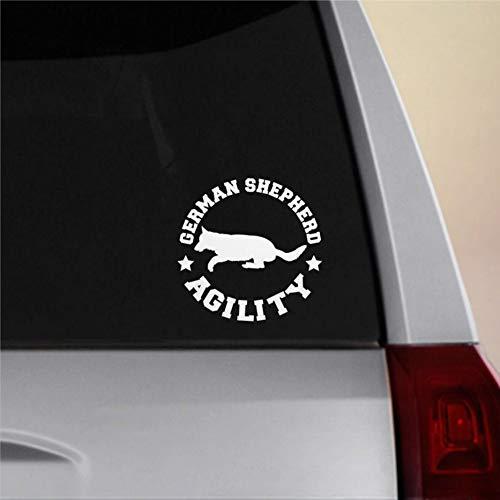 Duitse Herder hond behendigheid Vinyl Auto Sticker, Board Decal, Auto Accessoires, Laptop Decal, Auto Decoratie, Bumper Stickers voor Voor Windows, Autos, Vrachtwagens, enz.