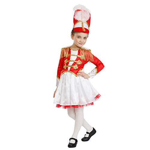 Dress Up America Girls Fancy Drum Majorette Costume Girls Fancy Marching Band Drum Outfit