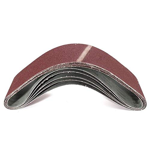 HONYGE LXGANG - Herramienta abrasiva abrasiva, 5 unidades, 60 bandas de lijado abrasivas de óxido de aluminio, 100 x 915 mm