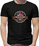 Made In Worcester Mens T-Shirt - City - Hometown - Born In - Worcestershire Men Black M