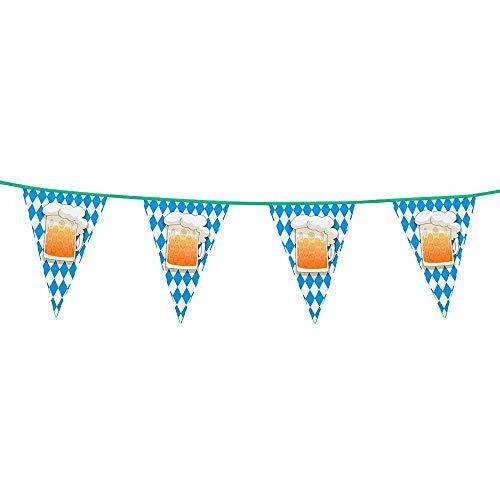 Boland 23941 Banderines de Alambre para Fiesta de Cerveza, Azul/Blanco