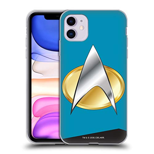 Officiële Star Trek Wetenschappen Uniformen en Badges TNG Soft Gel Case Compatibel voor Apple iPhone 11