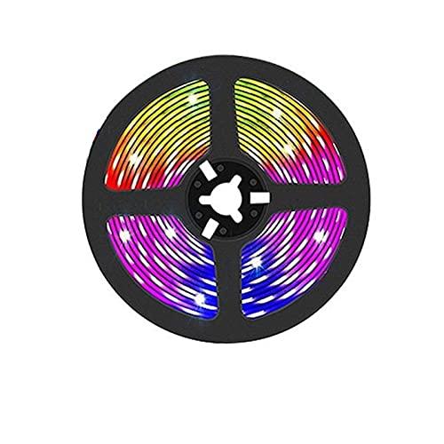 Wi fi Bluetooth USB Luces de Tira led RGB 5050/2835 lámpara led Control de iluminación luz de la aplicación del teléfono para tiktok TV luz de Fondo luz de Fiesta (Color : Waterproof, Size : 25m)