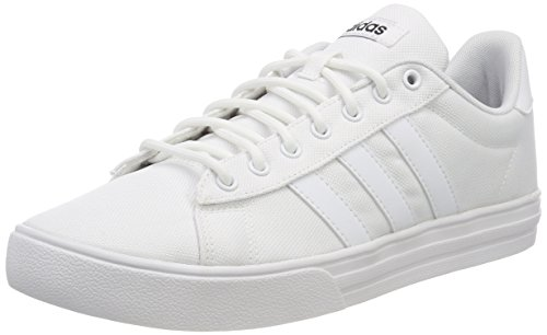 adidas Men's Daily 2.0 Basketball Shoes, White (Ftwwht/Ftwwht/Cblack Ftwwht/Ftwwht/Cblack), 15 UK