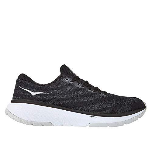 HOKA ONE ONE Men's Cavu 3 Running Shoes, Black/White, 12 D(M) US