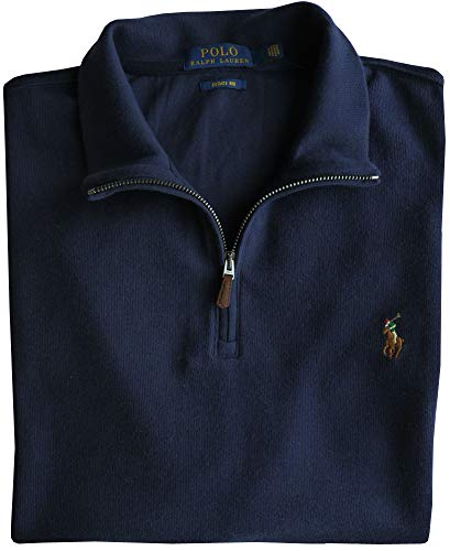 Polo Ralph Lauren Sweatshirt Gr.XXL, Navy, Pony Logo, Estate Rib
