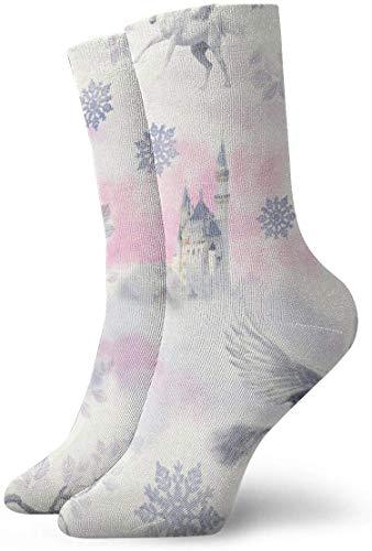 not applicable Mens Kleid-Socken-Pack-Engel Pferd Snowflake Schloss Lustige Polyester Crew Socken