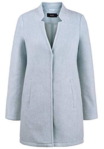 VERO MODA Mania Damen Winter Jacke Wollmantel Winterjacke Mantel Mit Reverskragen, Größe:L, Farbe:Smoke Blue