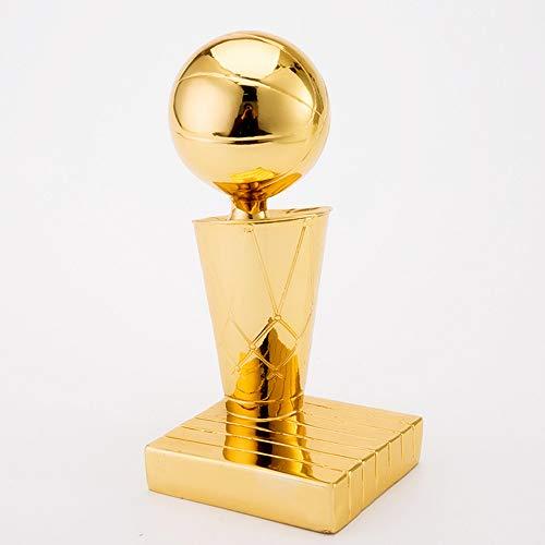 SMILE Copa de Campeones de la NBA, Trofeo del Juego de Baloncesto, Trofeo de Resina de la Copa de Oro Estatua Muy Buen Regalo conmemorativo,Gold,6.3inhigh