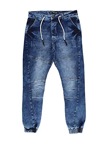 Just Rhyse Herren Antifit Cool blau W 38