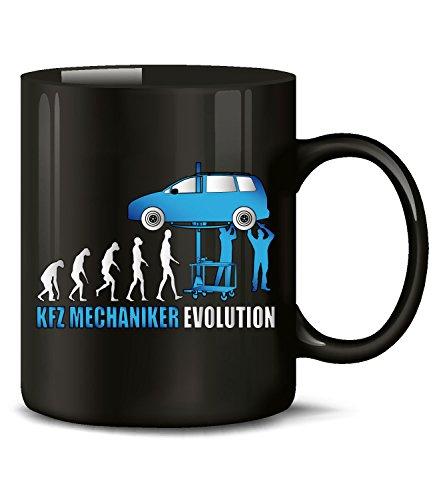 KFZ Mechaniker Evolution Fun Tasse Becher Kaffeetasse Kaffeebecher Geschenke Geburtstag Geschenkidee Geschenkartikel Handwerker Mechatroniker Werkstatt auto tuning werkzeug handschuhe schrauber