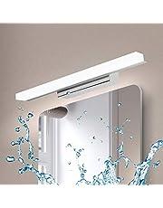 Kimjo Spiegellamp voor badkamer, 40 cm, 9 W, IP44, met mistlamp, neutraal wit, 4000 K, 900 lm, AC110-240 V, niet dimbaar, wandlamp, moderne led-spiegel, badkamerverlichting