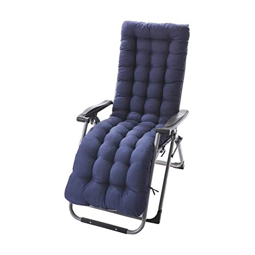 TYHZ Chair Cushion Lounger Cushion,Padded Chaise Cushion Portable Rocking Chair Cushion Not-Slip for Indoor Outdoor Camping Travel Fishing with Ties 155x48x8cm(61x19x3in) Chair Pad