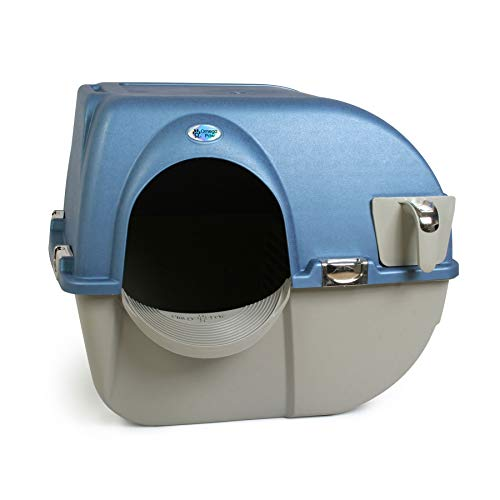 Omega Paw PR-RA15-1 Roll N Clean Self Separating Self Cleaning Litter Box, Blue