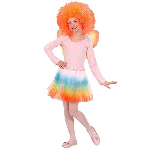Amakando Disfraz de hada arcoris para nios, disfraz de hada con tut, mariposa y elfo, disfraz de fantasa para nia con tut