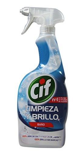 CIF Limpieza y brillo | Para Baños | Difusor de 750 ml | Spray para Baños | Desinfectante de Baños