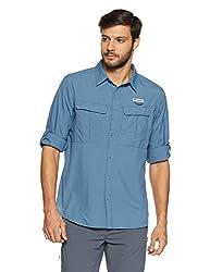 Columbia Mens Plain Regular Fit Nylon Casual Shirt