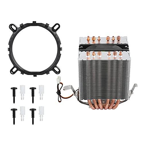 Enfriador de CPU, disipador de calor del ventilador del enfriador de la CPU, disipador de calor de los ventiladores de la CPU del ordenador, 6 tubos de calor aptos para Intel LGA 1156/1155/1150/775