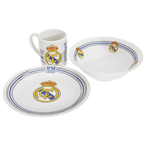 Real Madrid GS-21-RM - Set de desayuno (bol + taza + plato)