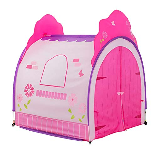 Play Tents Kids Kids Tent With Double Door Curtain Playhouse For Kids Indoor Kids Children Gift (Color : Pink, Size : 120 * 110 * 120cm)