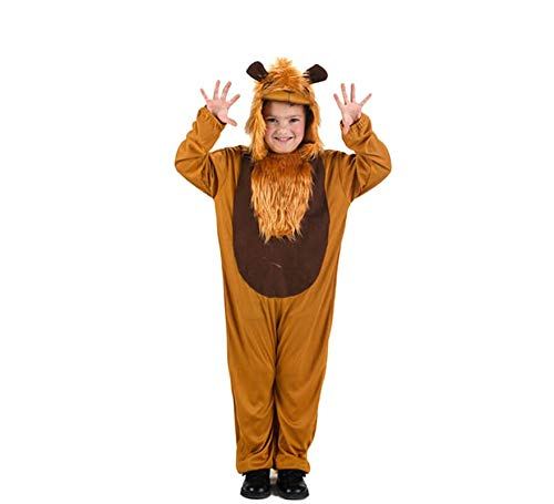 LEMON TREE SL Disfraz de 1 Pieza leòn para Carnaval Infantil.Talla 7/9 años niña niño. Cosplay niña niño Carnaval.
