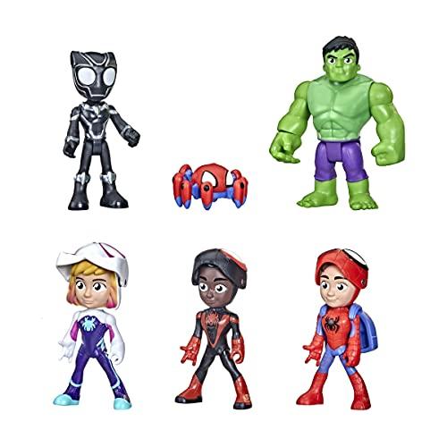 Hasbro Spidey and His Amazing Friends Maskierte Helden Multipack, 10 cm große Action-Figuren, für Kinder ab 3 Jahren F1486