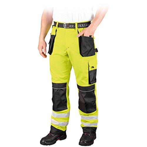 Leber&Hollman WARNSCHUTZHOSE LH-FMNX-T 46-62 Bundhose Schutzhose Arbeitshose Warnschutz Hose Gr��e 58