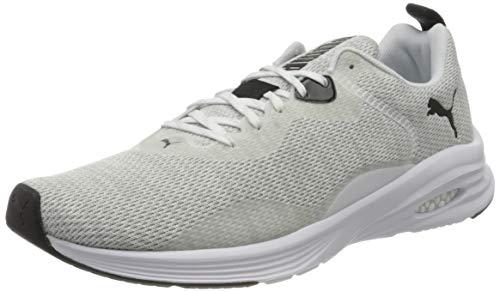 Puma Herren Hybrid Fuego Knit Sneaker, Weiß White Glacier Gray Black, 46 EU