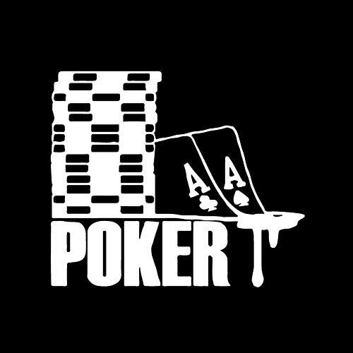 RUIRUI Spaß ist kreativ Poker Muster Aufkleber Auto Motorrad Mode Auto Aufkleber Silber 15Cm * 17.7Cm