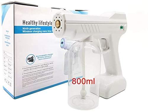 AMDIMOHB Alcohol Atomizado Anti-Virus Pistola Rociador Recargable Pulverizador eléctrico Máquina de Niebla Nano Pistola de Vapor, Spray de desinfección