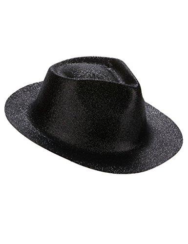 Chapeau pailletté noir adulte - Taille Unique