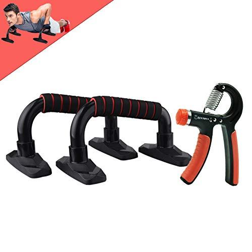 FIDAPIX Liegestützgriffe,2er-Set Liegestütz Griff Inklusive Handtrainer,Professional Push Up Bars mit rutschfeste für Home Gym Übung Trainieren, Muskeltraining Krafttraining Bodybuilding