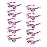 ONNEA 10 Paare Party Favors Sonnenbrille Set Sommer Kinder Damen (Leuchtend Rosa 10-Pack)
